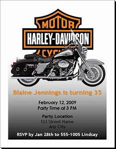 Free printable motorcycle invitations harley birthday for Free printable harley davidson wedding invitations