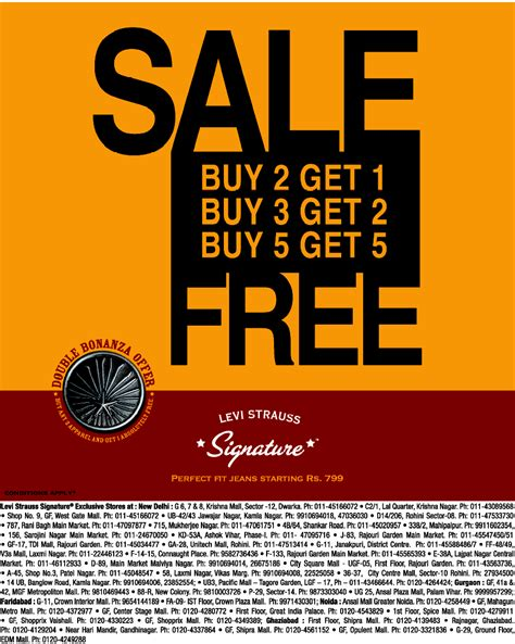 Strauss Sale by Levi Strauss Signature Sale New Delhi Saleraja