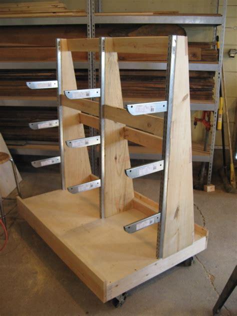 woodworking plans sheet goods  lumber storage cart