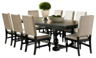 9 dining room set steve silver leona 9 dining room set traditional
