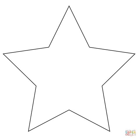 pointed star coloring page  printable coloring