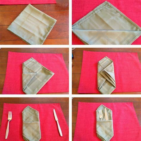 servietten falten bestecktasche einfach servietten falten einfach und wirkungsvoll zu weihnachten