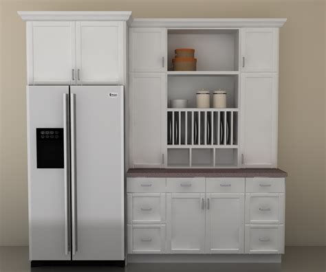 Attachment White Kitchen Pantry Cabinet (377) Diabelcissokho