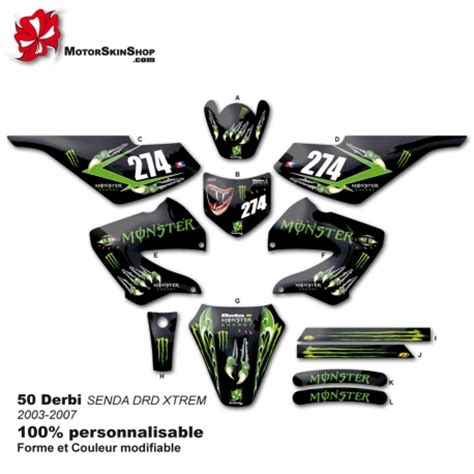 kit deco derbi drd pin stiker energy on