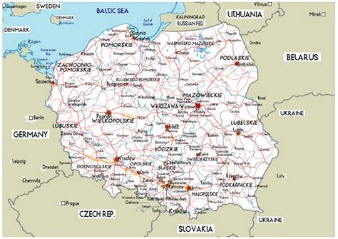large road map  poland