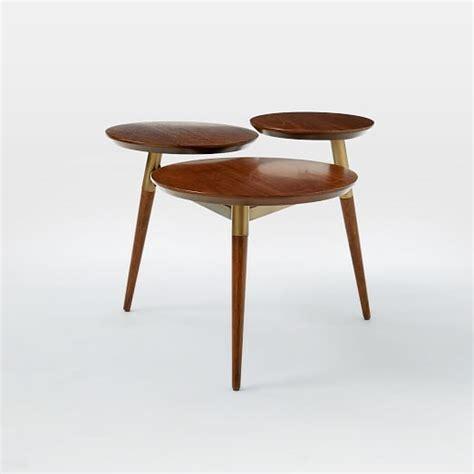 west elm end table clover coffee table walnut antique brass west elm