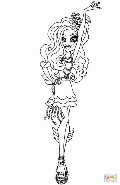 Coloring Camera Action Lagoona Frights Pages Printable