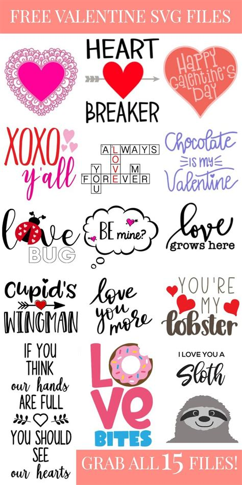 Valentines day is a special day for all the lovers. Free SVG Files for Valentine's Day - Kingston Crafts ...