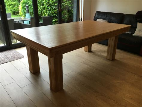 Modern 7ft Pool Dining Table In Oak  Red  Pool Table Company