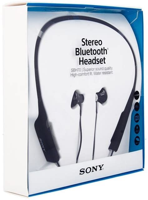 sony bluetooth stereo headset sbh70 black headset alzashop