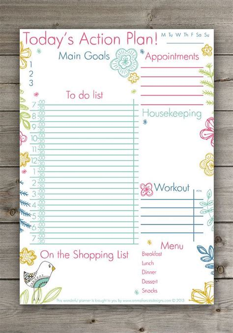 cute daily planner cute hand drawn floral planner