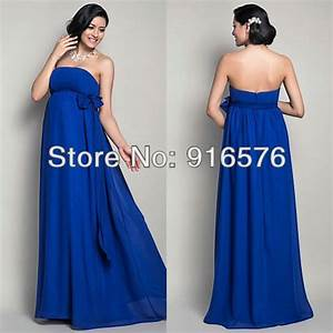 Royal-Blue-Empire-Sash-Bow-Casual-Wedding-Dresses-Floor ...