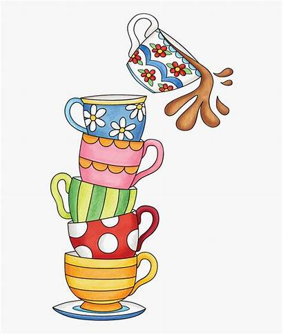 Clipart Stacked Teacups Cups Tea Cliparts