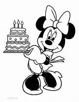 Minnie Mouse Coloring Pages Printable Birthday Cool2bkids sketch template