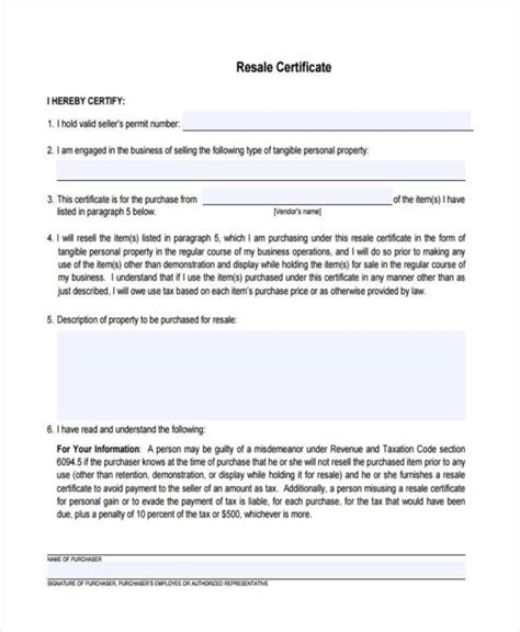 certificate forms