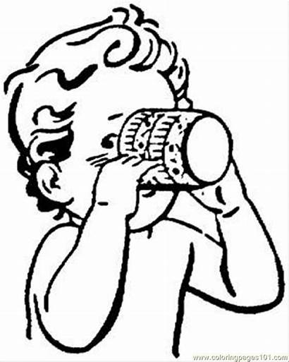 Juice Drinking Coloring Water Drinks Milk Clipart