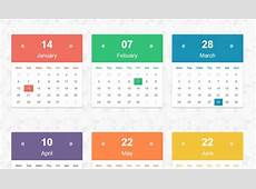 26+ HTML Calendar Templates HTML, PSD, CSS Free