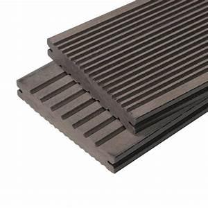 Lame De Terrasse Composite : lot de 2m de lames de terrasse composite maxima coul ~ Edinachiropracticcenter.com Idées de Décoration