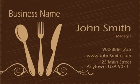 catering visiting card templates catering business cards free templates printifycards