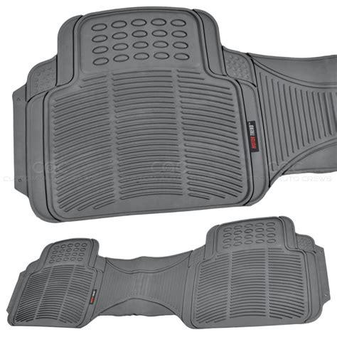 rubber car floor mats 1pc gray rubber floor mat rear car suv heavy duty all