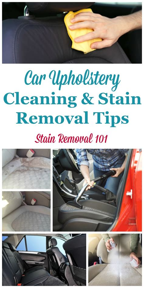 Car Upholstery Cleaner by Car Upholstery Cleaning Tips Stain Removal Tips