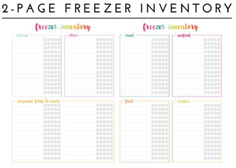 size of refrigerator organizing the freezer with printable freezer inventory