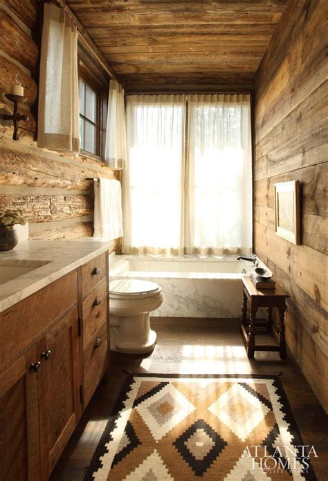 Rustic Cabin Bathrooms by Best 25 Log Cabin Bathrooms Ideas On