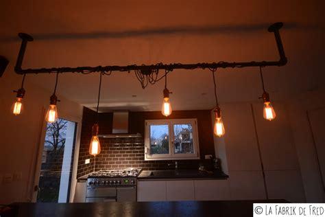 Luminaire Industriel Avec Fils Pendant Et Ampoule Edison