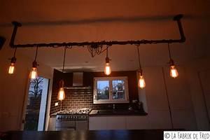 Luminaire Industriel Suspension : luminaire industriel avec fils pendant et ampoule edison ~ Teatrodelosmanantiales.com Idées de Décoration