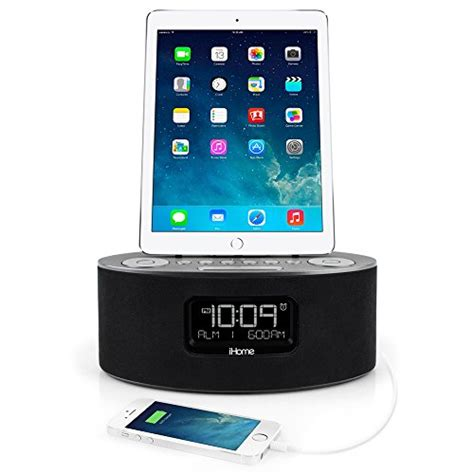 ihome for iphone 5 ihome idl46 lightning dock clock radio and usb charge play