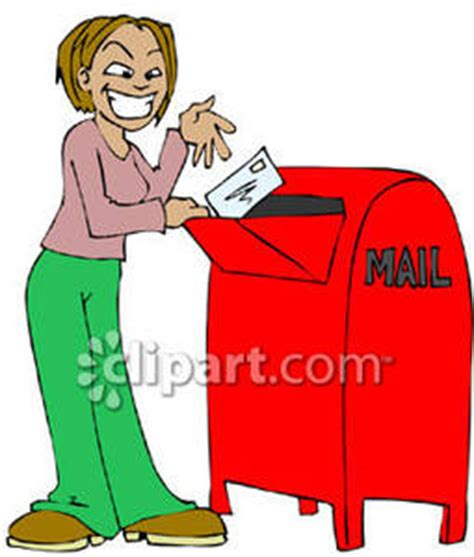 11478 mail letter clipart mailing a letter royalty free clipart picture
