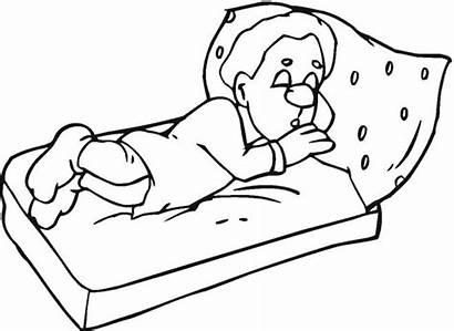 Sleeping Coloring Pages Sleep Drawing Night Line