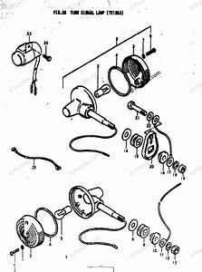 Suzuki Motorcycle 1974 Oem Parts Diagram For Turn Signal