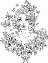 Coloring Pages Adult Line Artsy Butterfly Adults Printable Butterflies Mandala Fairy Sheets Printables 2d Books sketch template