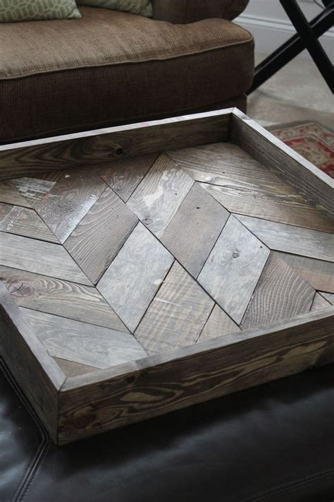 design creative  unique square ottoman tray ideas