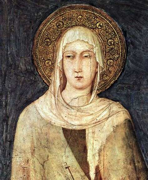 today in history 16 july 1194 birth of st clare of assisi