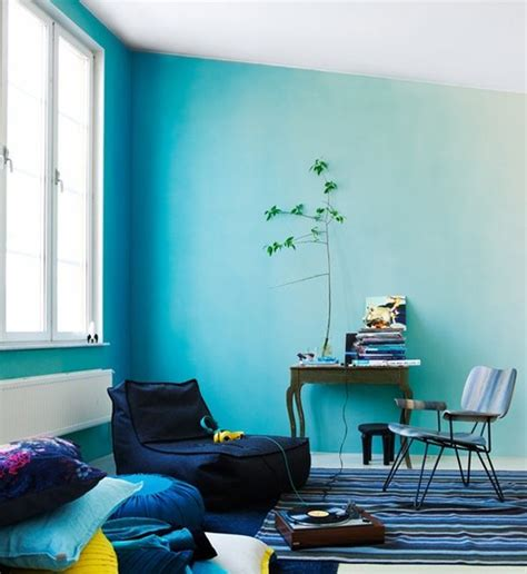 wall painting designs in blue colour ombre walls painting techniques designs and ideas Simple
