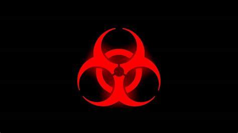 Glowing Biohazard Symbol (red) Youtube