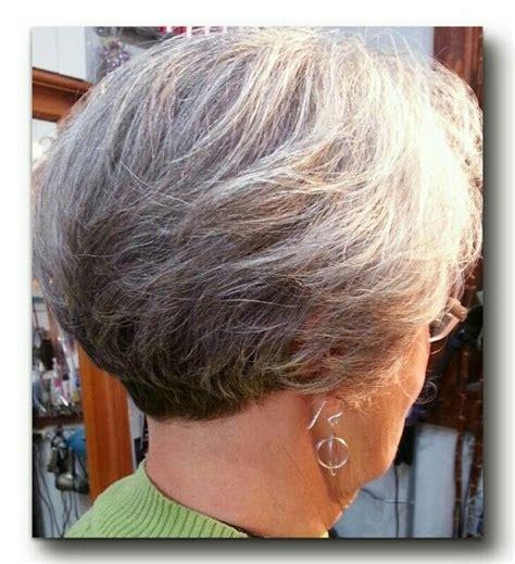 wedge haircuts for gray hair stacking bob by hawaii nailspa bobs 3301