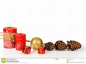 Christmas Decoration On White Background Royalty Free ...