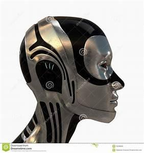 Metal Futuristic Robotic Head Royalty Free Stock Image ...