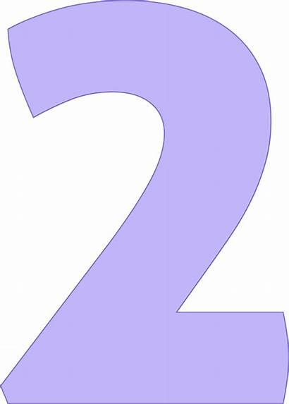 Clipart Number Transparent Purple Numbers Number2 Webstockreview