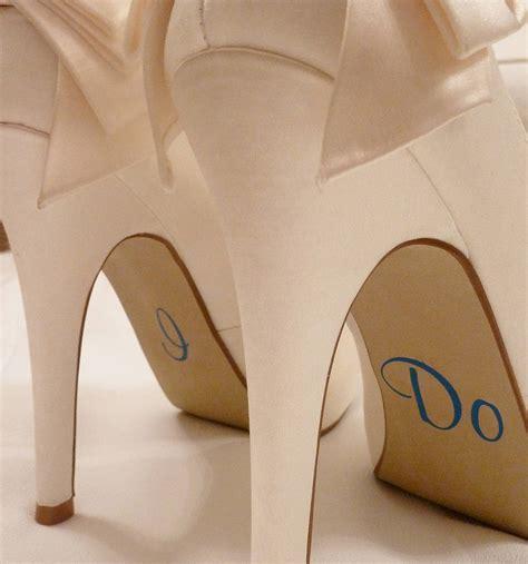 Personalised Wedding Shoe Stickers By Nutmeg