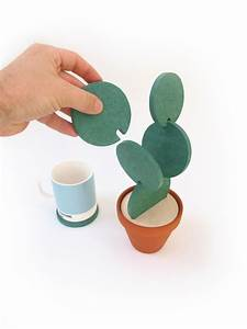 Dessous De Verre Bois : cacti coasters des dessous de verres un peu piquants ~ Teatrodelosmanantiales.com Idées de Décoration