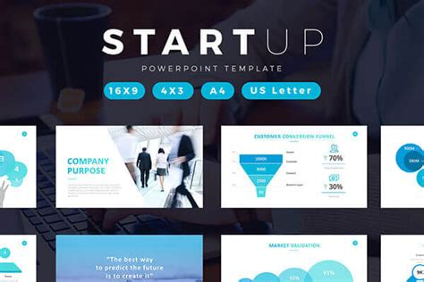 startup powerpoint template  create  professional pitch