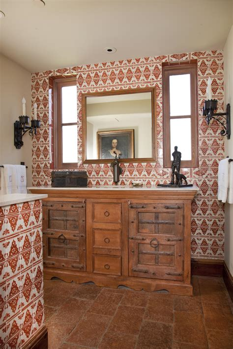 mediterranean style powder rooms traditional home