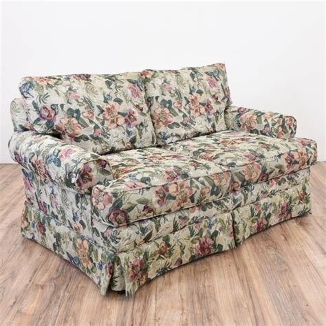 Patterned Loveseat by Floral Sofa Loveseat Loveseat Vintage Furniture San Diego