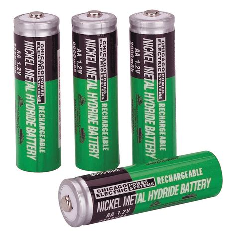 pack of 4 nimh rechargeable aa batteries