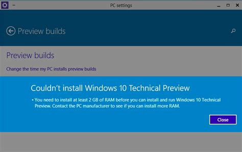 windows 10 preview builds for update