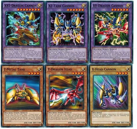 yugioh deck lists a z 6 card xyz xz xy fusion x cannon y z